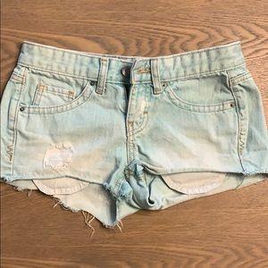 Light teal jean shorts!
